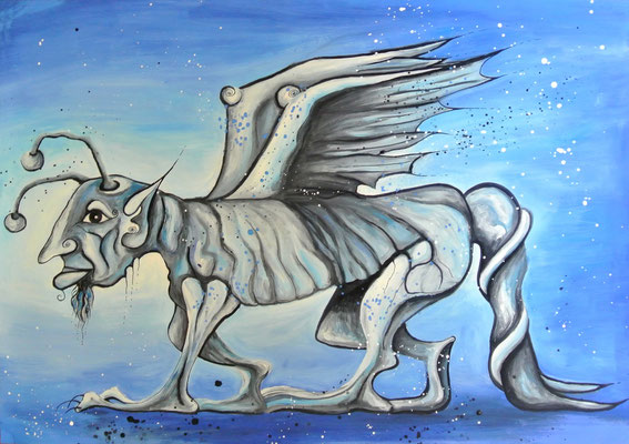 Phantasiewesen Gnominus 70 x 50 cm - verkauft