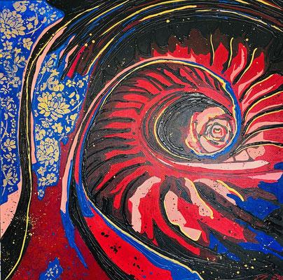 Weg nach unten Teil 13 - 90 x 90 cm Ausstellung
