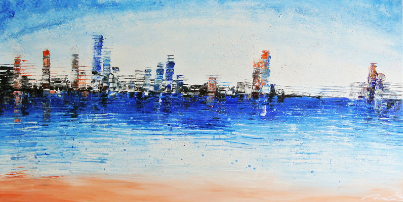 skyline near the sea 1 - 120 x 60 cm