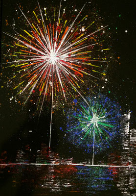 skyline fireworks Set B Teil 2 - 50 x 70 cm 2016