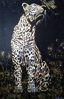 KISS OF A BUTTERFLY (Leopard) - 80 x 120 cm