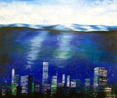 skyline oceancity - 100 x 100 cm - vergriffen Ausstellung