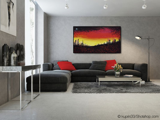 skyline on the hill - 140 x 80 cm