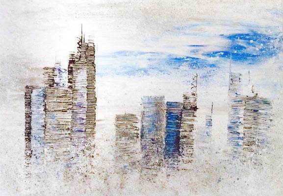 skyline iciness Teil 5 - 100 x 70 cm - verkauft