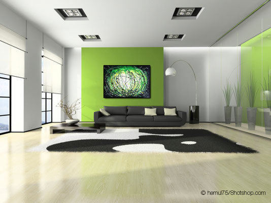 grüne Explosion - 140 x 100 cm