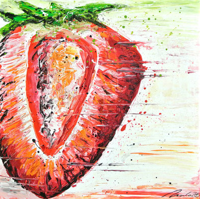 Erdbeere - 50x50 cm
