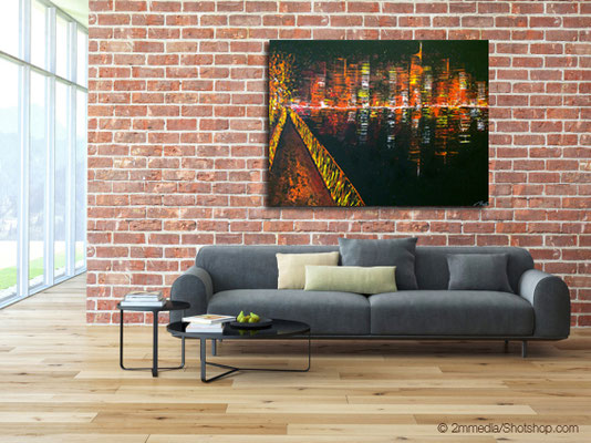 view from a bridge - 160 x 120 cm