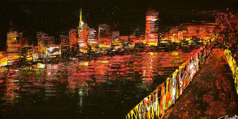 skyline (fiktiv) - 120 x 60 cm