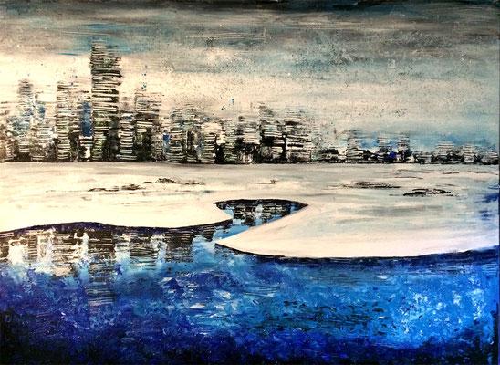 skyline iciness (Eiseskälte) Teil 1 - 120 x 80 cm - versteigert/verkauft