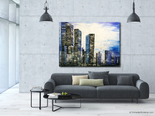 skyline blue (end time) - 160 x 120 cm