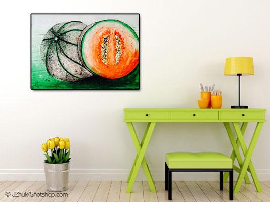 Melone Teil 1 - 100 x 70 cm