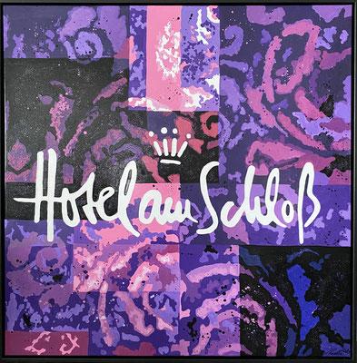 Logo Hotel am Schloss - 100 x 100 cm - verkauft