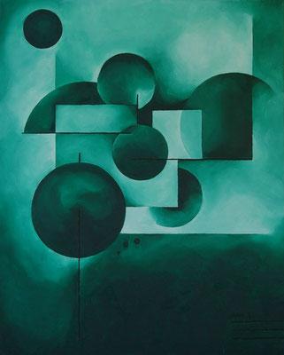Huile sur toile. Format: 100x80 cm