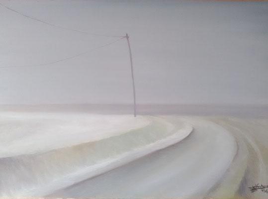 Huile sur toile, format: 70x60 cm