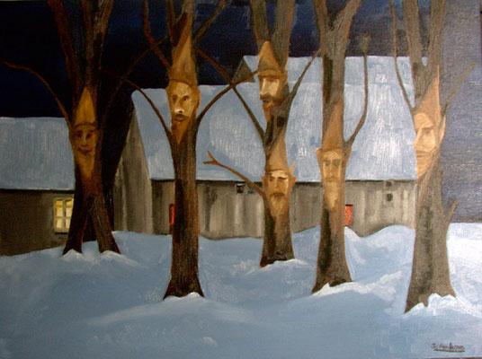 Huile sur toile, format: 100x80 cm