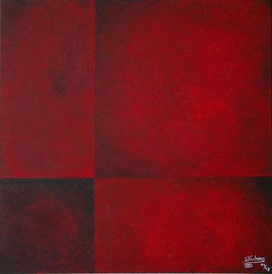Huile sur toile. Format: 80x80 cm