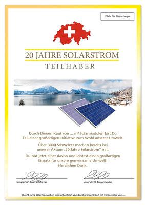 Plakat Solarstrom 2