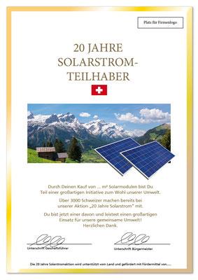 Plakat Solarstrom 3