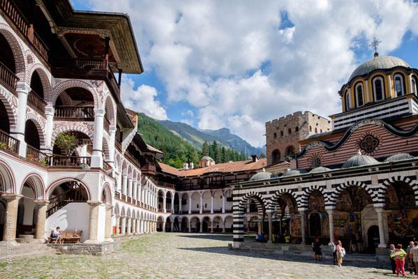 Monastère de Rila - d'une superficie de 9000 m2