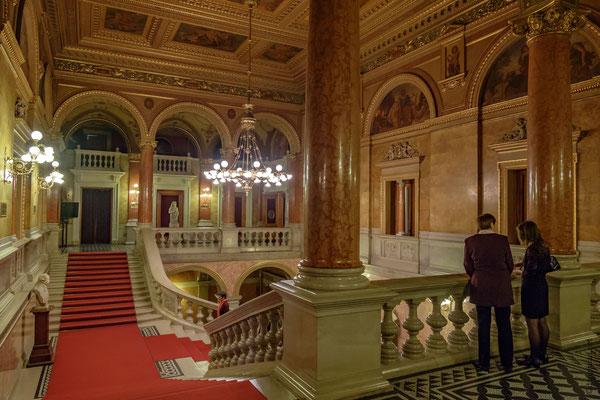 l'escalier d'honneur de l'Opéra