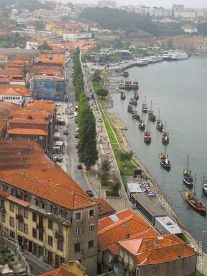 Porto - la Ribeira des chais de Porto