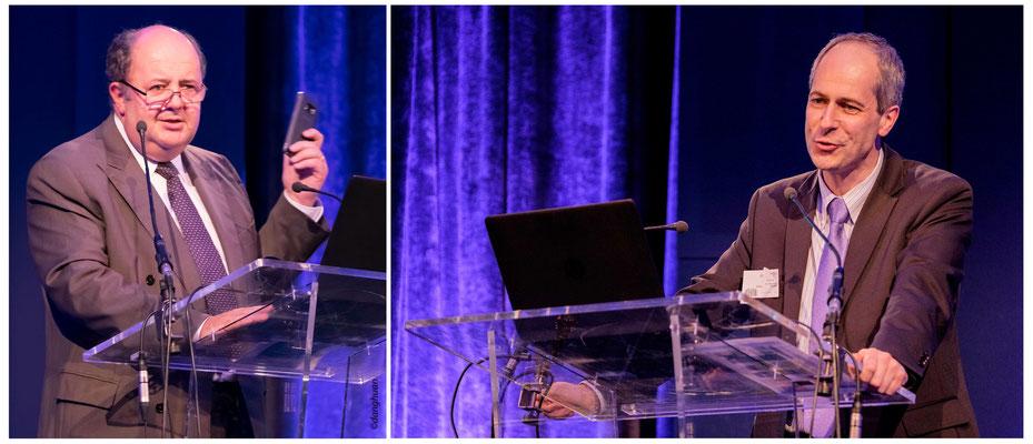 R.Viel (DG Délégué de Bouyguestelecom),  Yves Caseau (Directeur de la Digital Agency d'AXA)