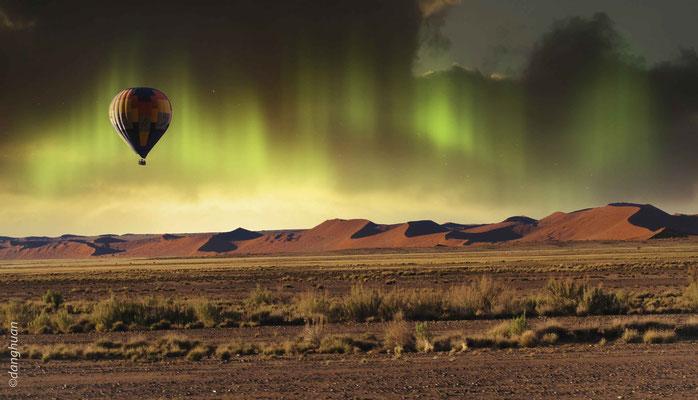 Atterrissage en zône inconnue (Namibie)