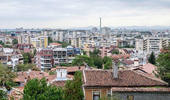 Les toits de Plovdiv - la seconde ville de Bulgarie
