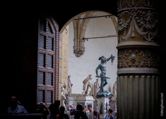David vu depuis le Palais de Vecchio