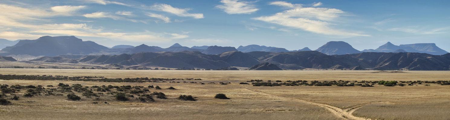 Panorama désert de Namibie