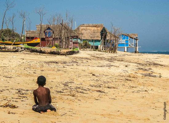 village de pêcheurs Vezo près d'Anakao