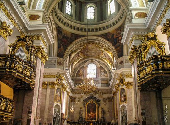 Ljubjana - L'ntérieur de la Cathédrale St Nicolas