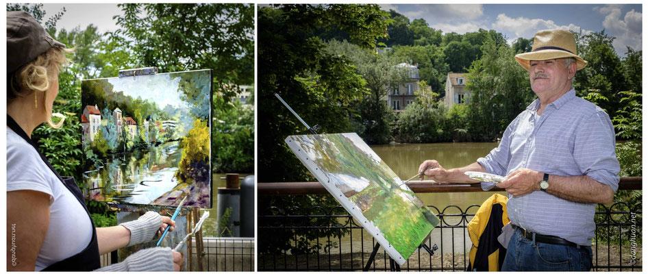 venus se retrouver  à Bougival vers les années 1880-1890,  attirés par les paysages et le charme buccolique du village