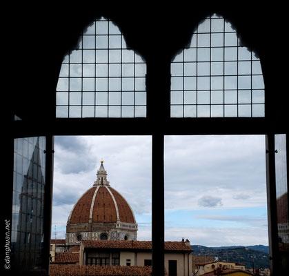 Le dôme de la Santa Maria del Fiore vu depuis le Palais de Vecchio