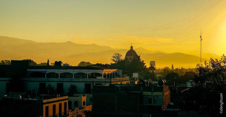 Coucher de soleil à Oaxaca