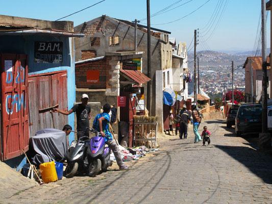 sur les hauteurs d'Antananarivo