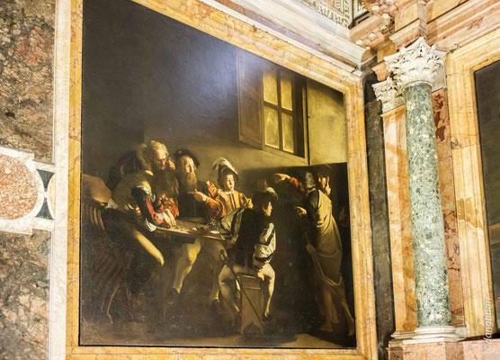 Vocation de saint matthieu  (Le Caravage) - Chiesa di San Luigi dei Francesi
