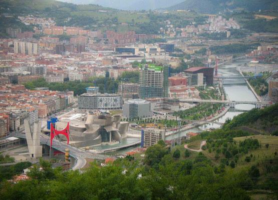 Bilbao - vue de la colline