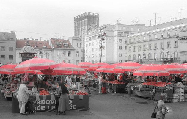 Zagreb - marché