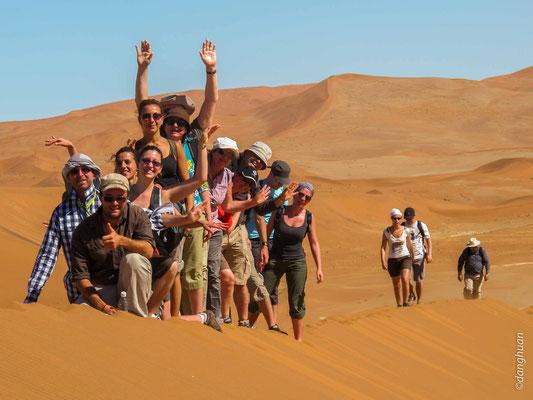 Sossusvlei - arrivée sur la dune