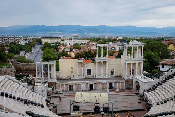 Plovdiv - l'amplithéâtre Romain le mieux conservé de l'Europe
