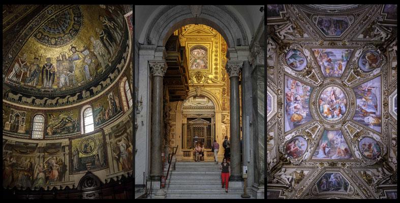 L'intérieur de St Maria in Trastevere