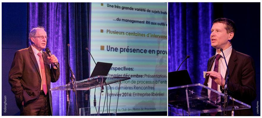 M.Raquin (Président du Club des Pilotes de Processus),  Hugues Morley-Pegge (WillBe Group)