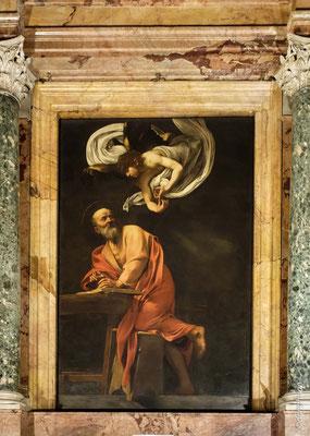Saint matthieu et l'ange (Le Caravage) - Chiesa di San Luigi dei Francesi