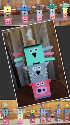 Tirelire en bois bricolée avec les enfants, avec un trou différent pour chaque pièce de monnaie ;-) www.toutpetitrien.ch/bricos/ - fleurysylvie