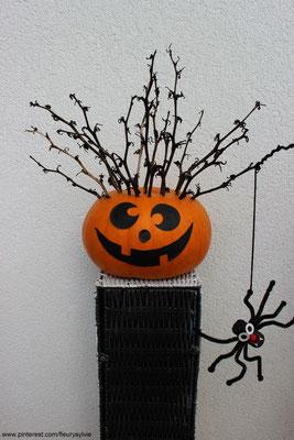 Citrouille pour Halloween. www.toutpetitrien.ch/bricos/ - fleurysylvie