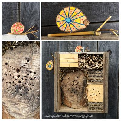 Hôtel à insectes. www.toutpetitrien.ch/bricos/ - fleurysylvie