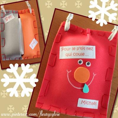 Pochette à mouchoirs en caoutchouc mousse. www.toutpetitrien.ch/bricos/ - fleurysylvie