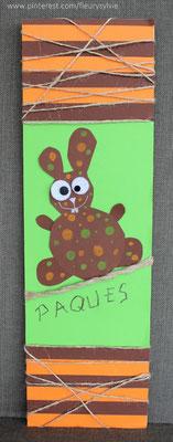 Lapin de Pâques en papier. www.toutpetitrien.ch/bricos/ - fleurysylvie