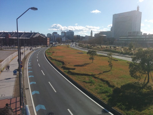 4 Walking to Minato Mirai (the red brick building is kind of an attraction)